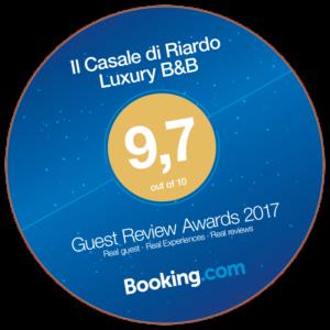 Il Casale di Riardo. Booking Guest Review Awards 2017.