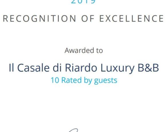 Il nostro Luxury B&B riceve un premio importante!